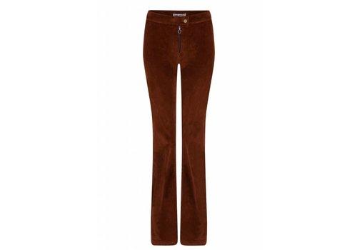 Lois Jeans Rawide Zip Flare Brightcord Orange