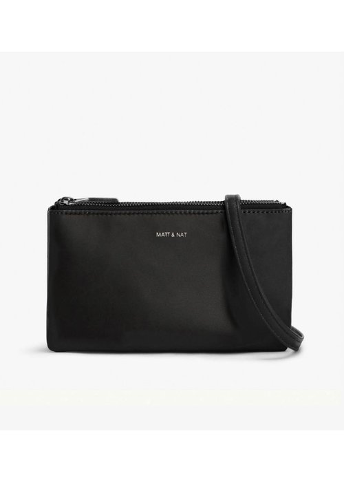 Matt & Nat Triplet Crosbody Bag Black