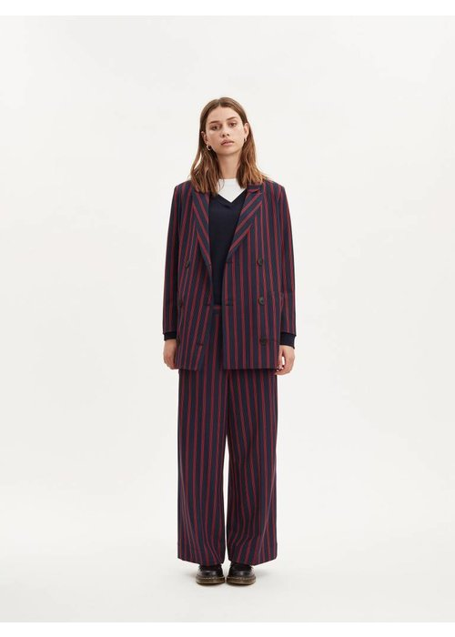 Libertine Libertine Shift Dark Navy Red Stripe Blazer