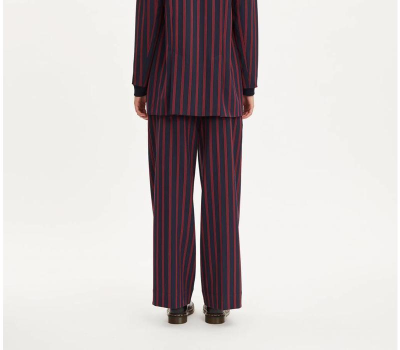 Element Dark Navy Red Stripe Pants