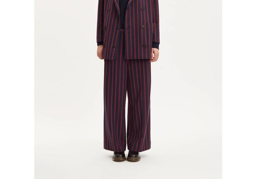 Libertine Libertine Element Dark Navy Red Stripe Pants