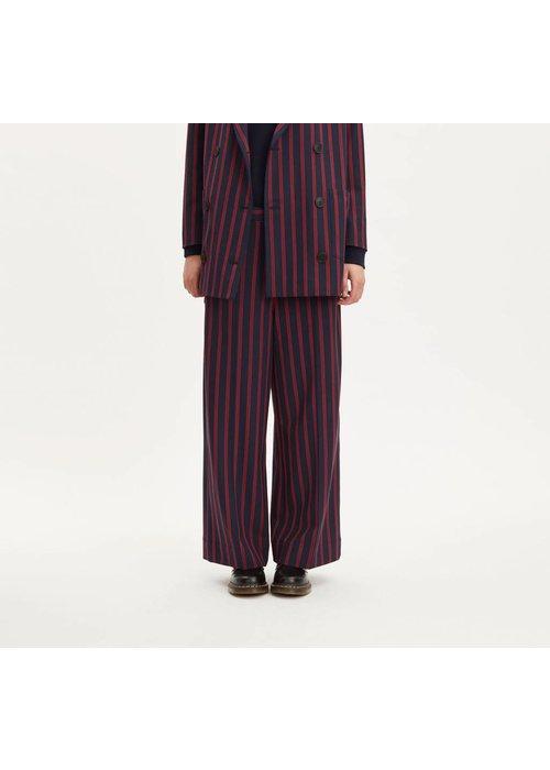 Libertine Libertine Element Dark Navy Red Stripe Pants