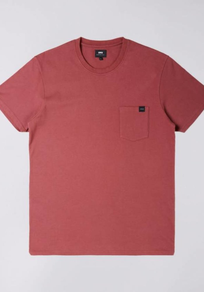 Pocked Tee Washed Oxblood Red