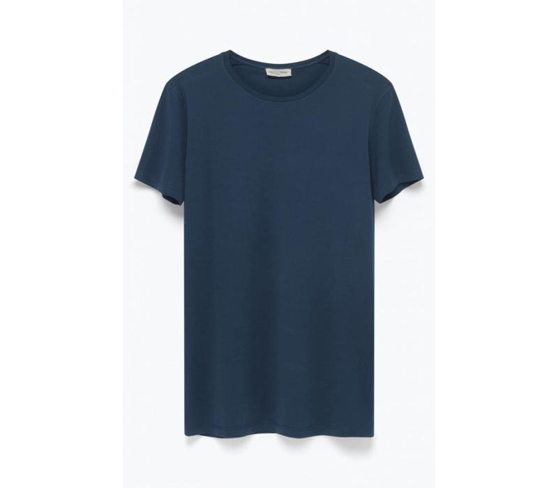 Denver Cotton T-shirt Caviar Blue