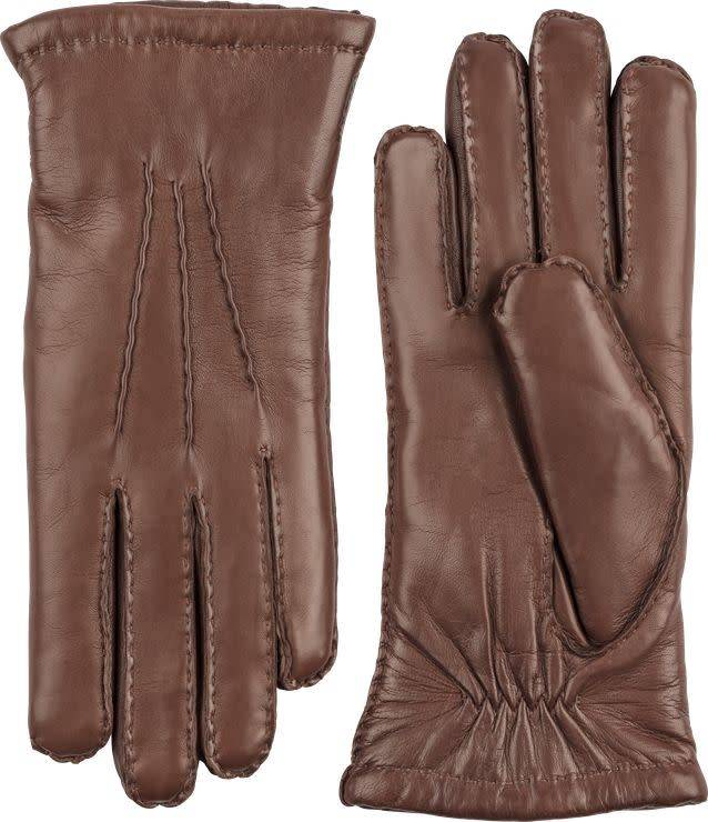 Amelia Chestmut Brown Gloves Hairsheep Leather-1