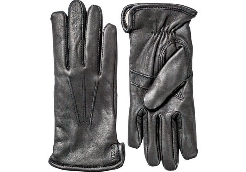 Hestra Gloves Rachel Black Deerskin Leather