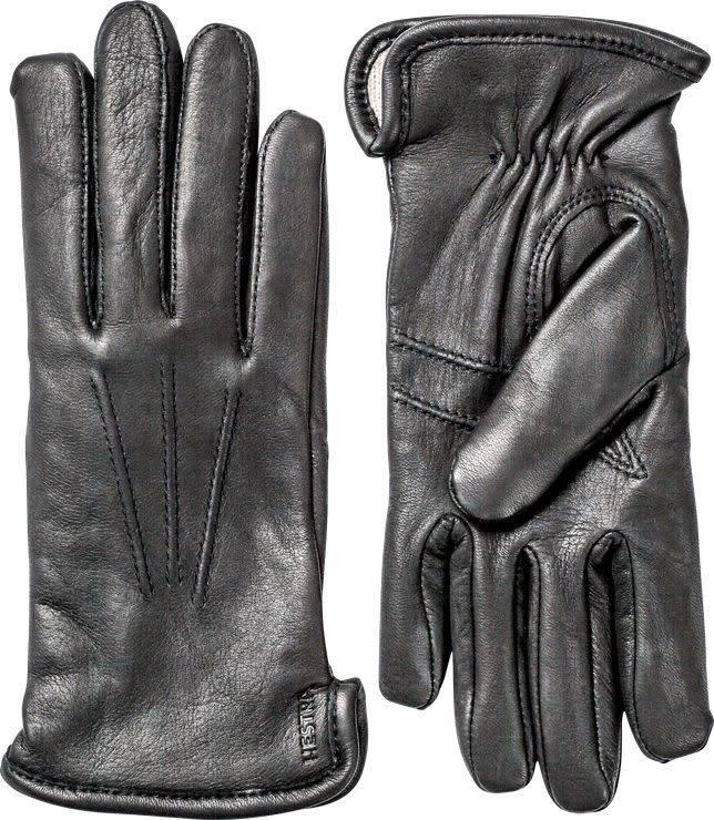 Rachel Gloves Black Deerskin Leather-1