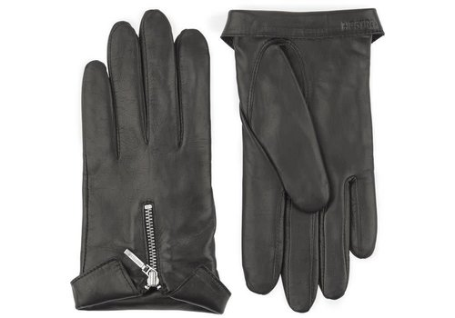 Hestra Gloves Caroline Gloves Black Hairsheep Leather