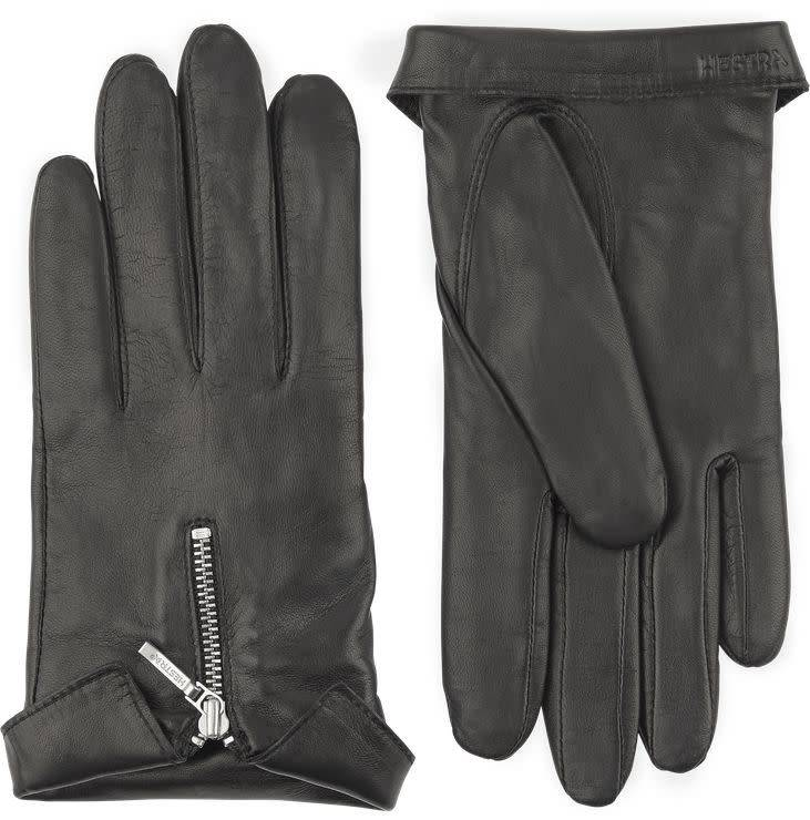 Caroline Gloves Black Hairsheep Leather-1
