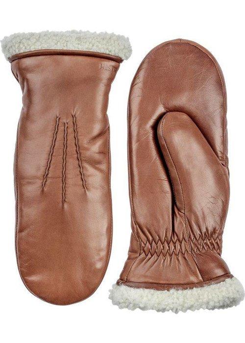 Hestra Gloves Kathryn Wanten Deerskin Tabac Brown