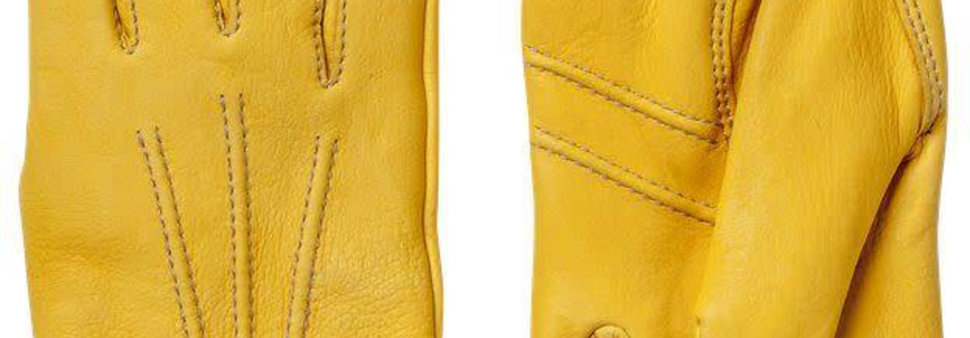 Andrew Deerskin Leather Gloves Natural Yellow