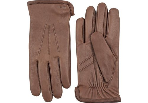 Hestra Gloves Andrew Deerskin Leather Chocolate Brown