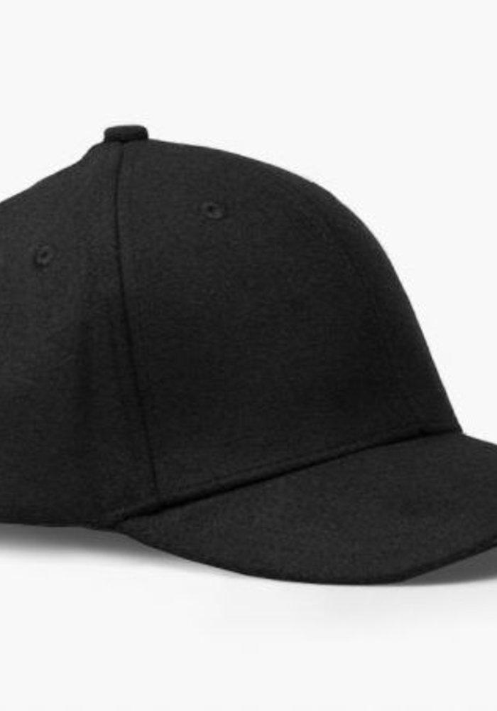 Wool Cap Dark Grey Melange
