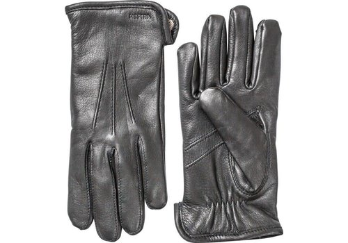 Hestra Gloves Andrew Deerskin Black Leather