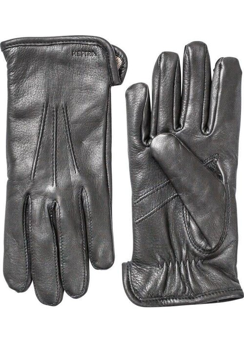 Hestra Gloves Andrew Deerskin Black Leather