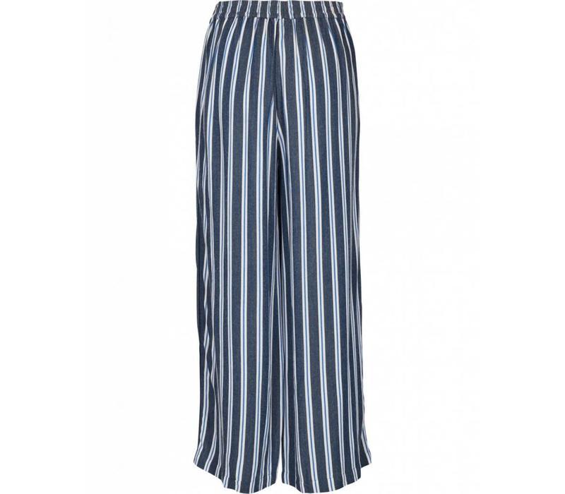 Alana blue stripped ancle pants
