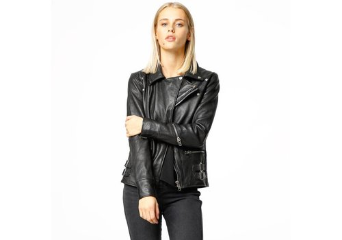 Deadwood Vinnie Black Leather Jacket Women