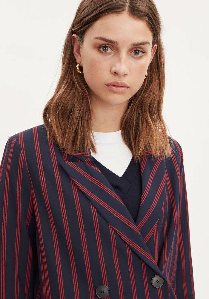Shift Dark Navy Red Stripe Blazer
