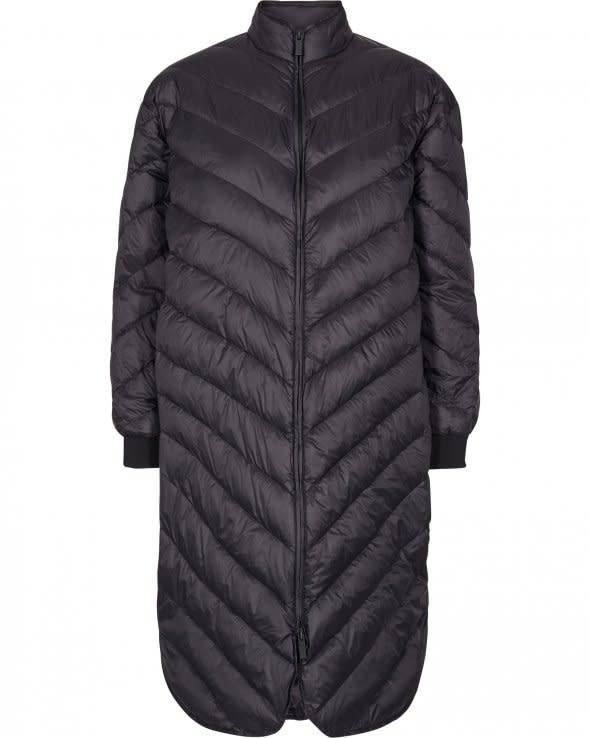 Nala Long Down Jacket Black-1
