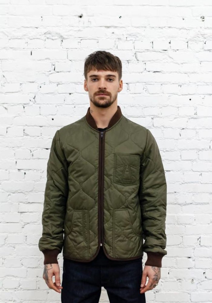 Frostbite Quilted Khaki Green