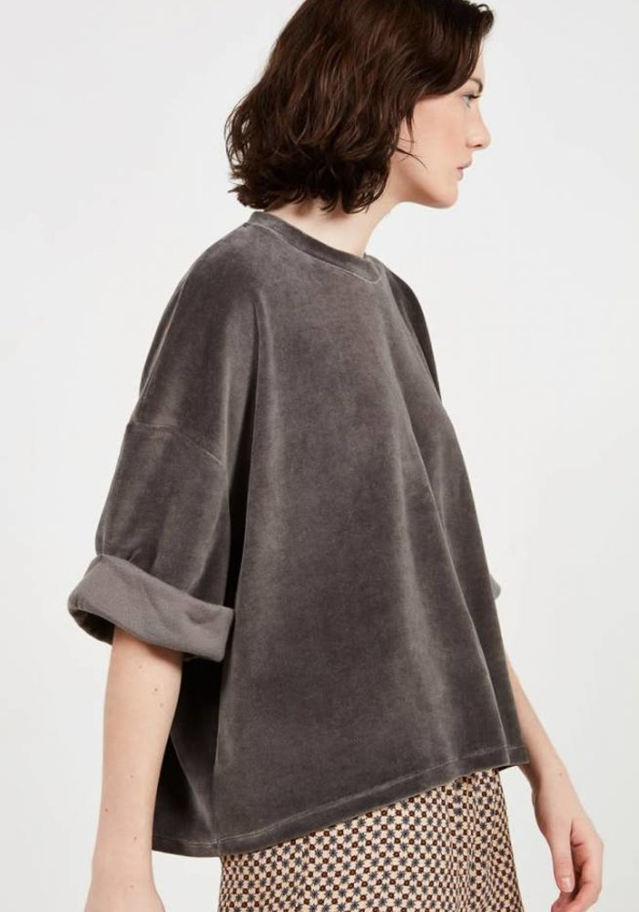 Aleksa Fleece Smoky Black