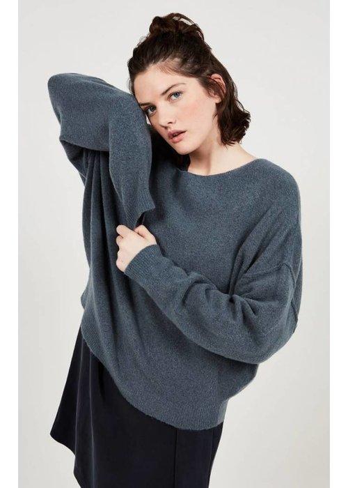 American Vintage Damsville Oversized Knit Thallasso Grey