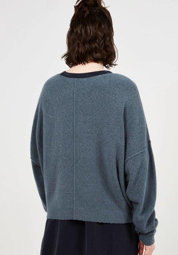 Damsville Oversized Knit Thallasso Grey