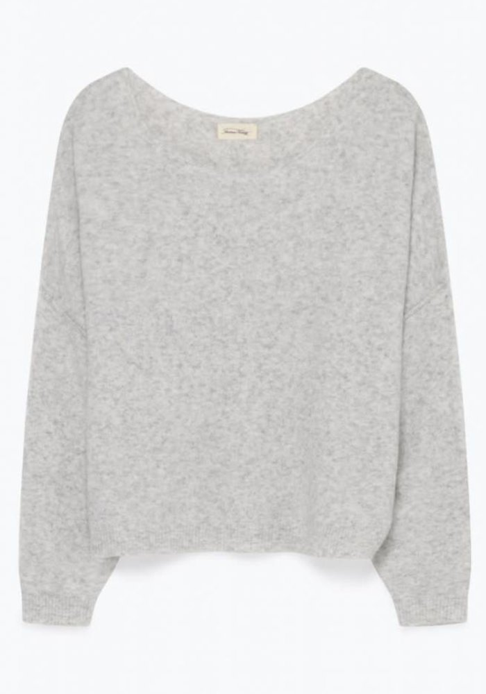 Damsville Oversized Knit Light Grey