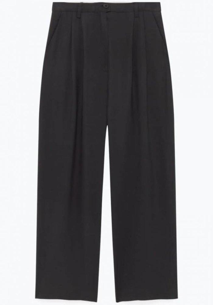 Holiester Pantalon Noir Black