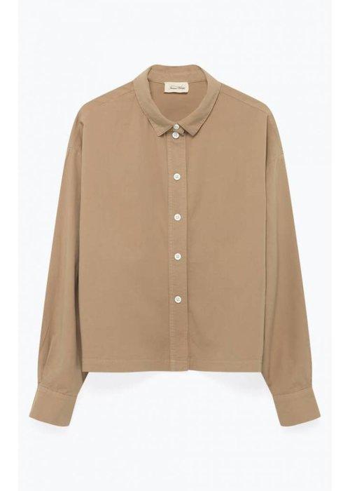 American Vintage Pizabay Cotton Shirt Brown Sugar