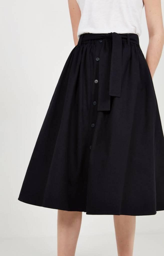Tatayou Cotton Skirt Navy-1