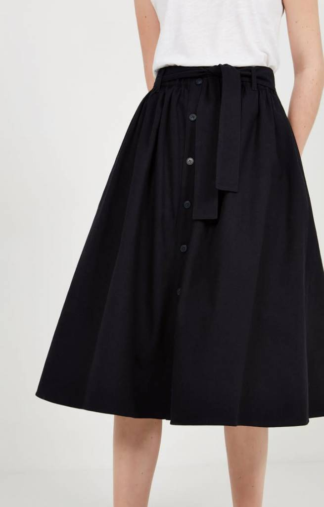 Tatayou Cotton Skirt Navy-4