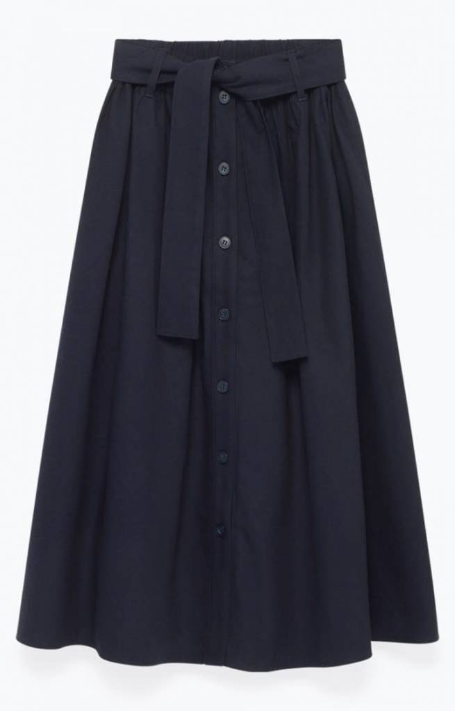 Tatayou Cotton Skirt Navy-7