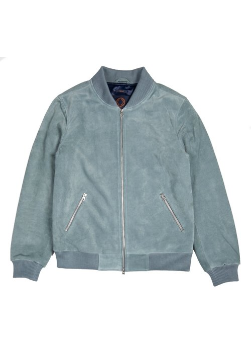 Human Scales Russel Soft Blue Suede Jacket