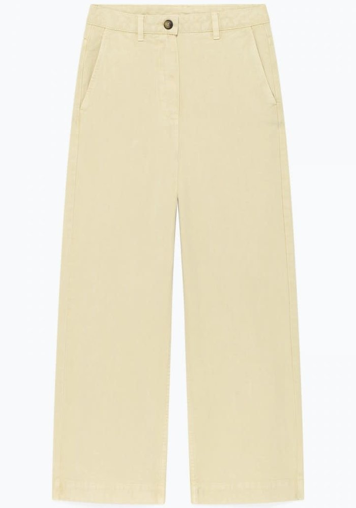 Tomala High Waist Trouser Ecru