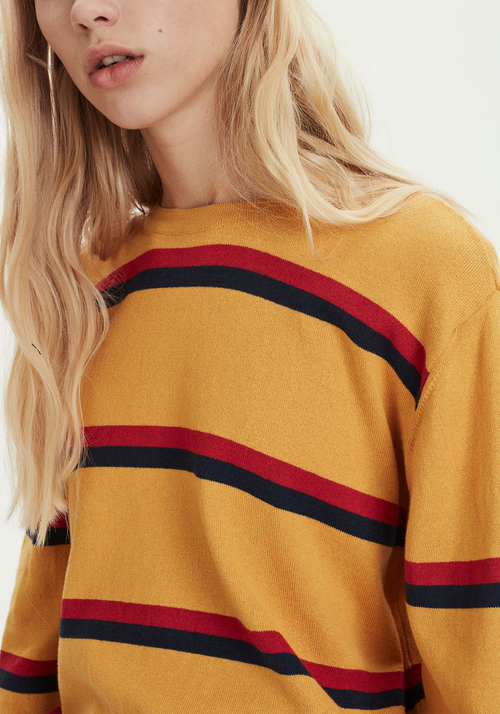 Call Yellow Knit Stripes