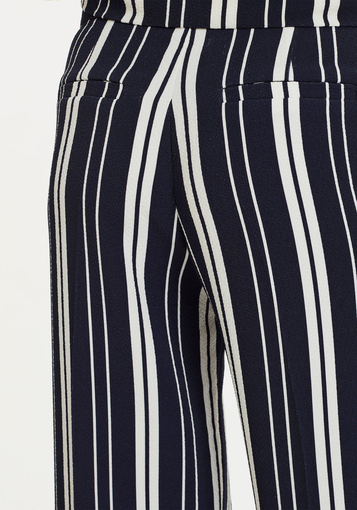 Lark Trousers Navy Off White Stripes