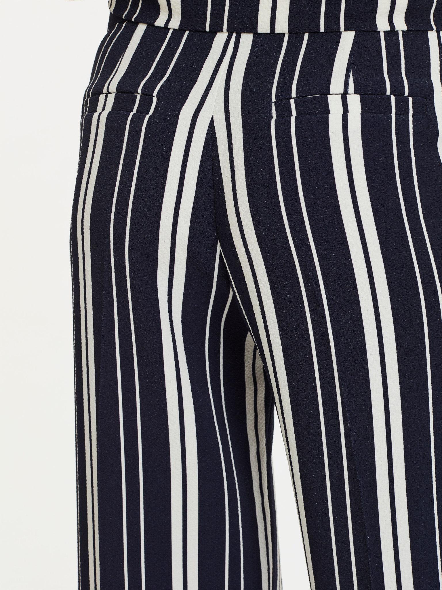 Lark Trousers Navy Off White Stripes-2