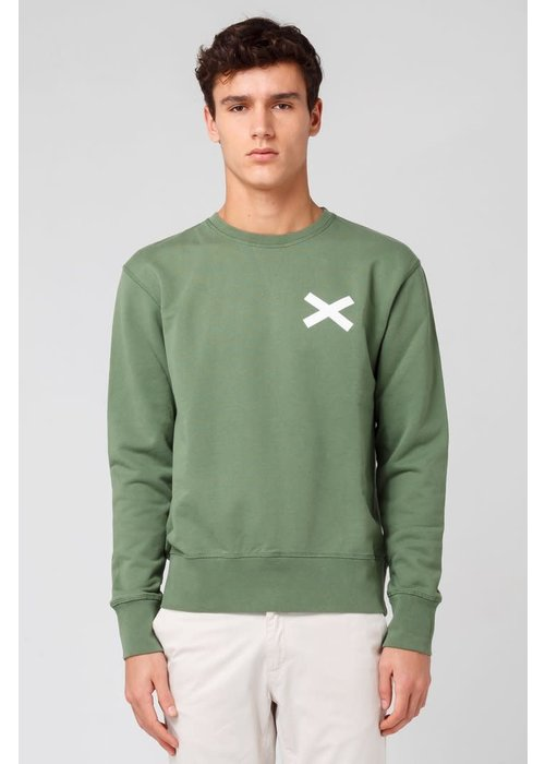 Edmmond Studios Cross Sweat Dusty Green
