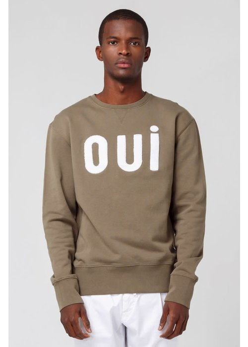 Edmmond Studios Oui Sweater Plain Khaki Green