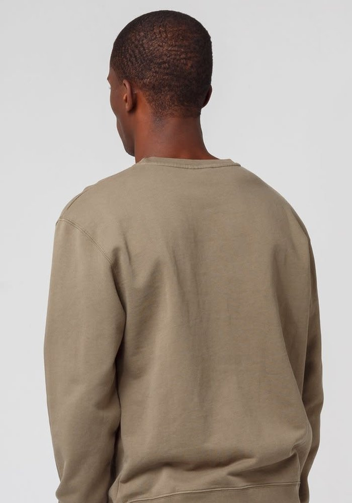 Oui Sweater Plain Khaki Green