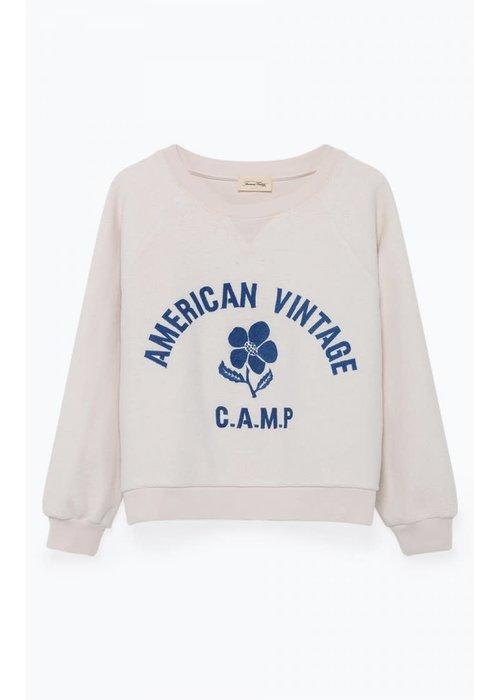 American Vintage Utocity Summer Sweater White