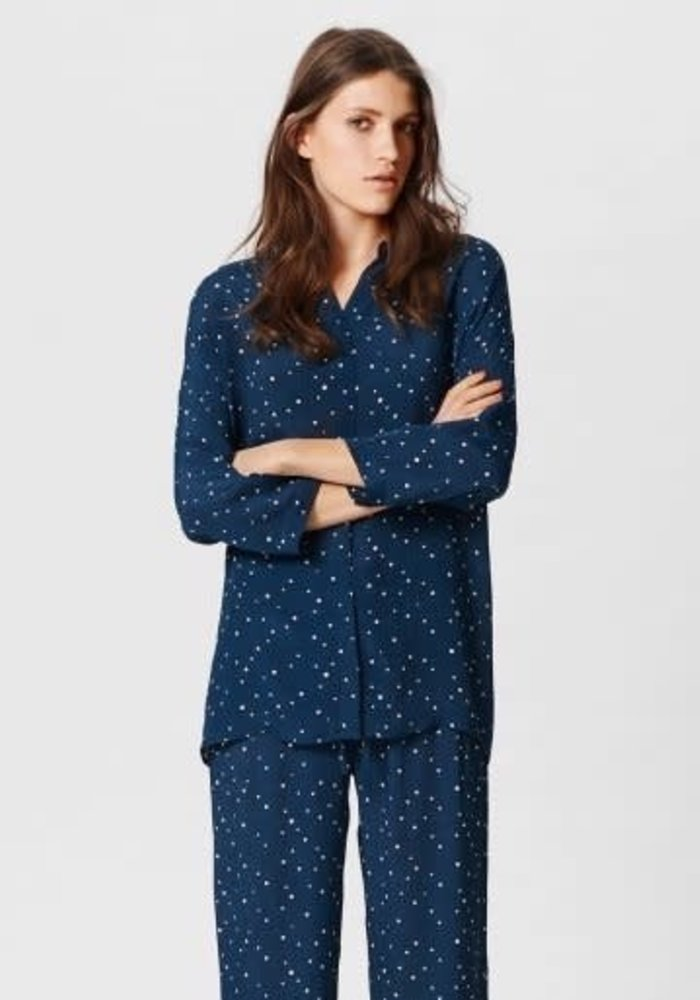 Life Shirt Blue Polka Dot
