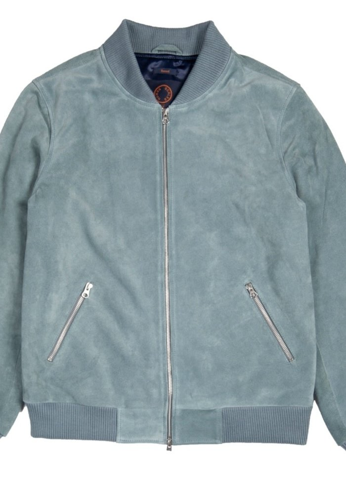 Russel Soft Blue Suede Jacket