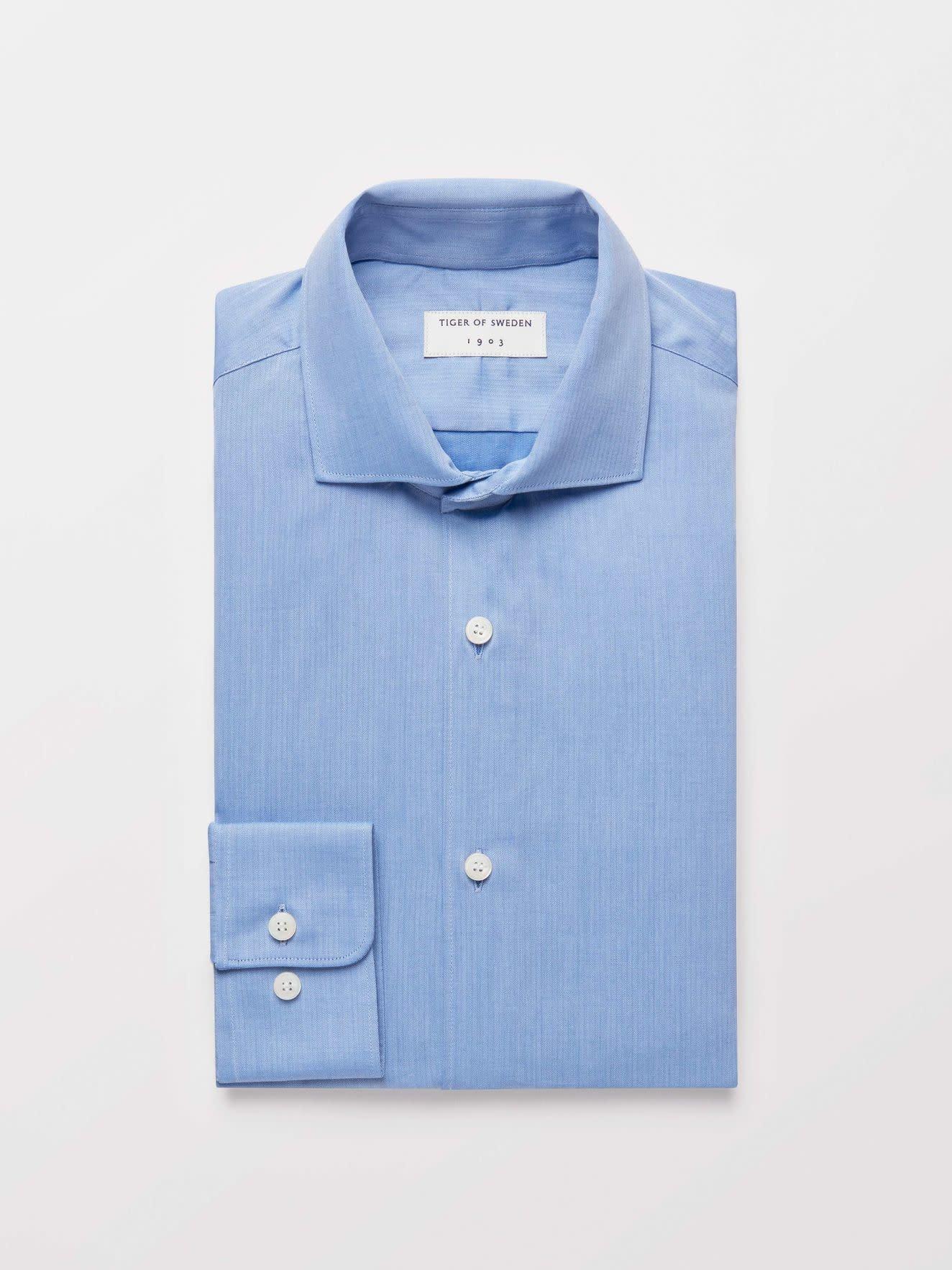 Farrell 5 net gekleed overhemd lichtblauw-2