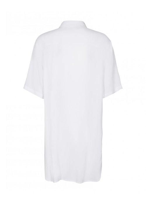 Moss Copenhagen Simpel Beach Shirt White