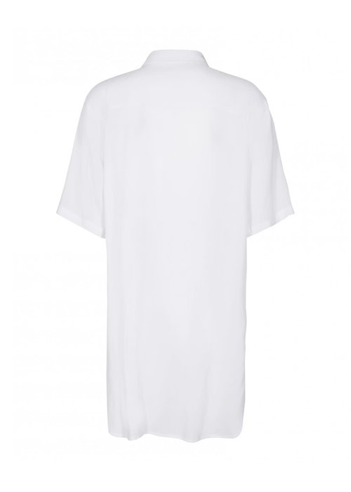 Moss Copenhagen Simple Beach Shirt White