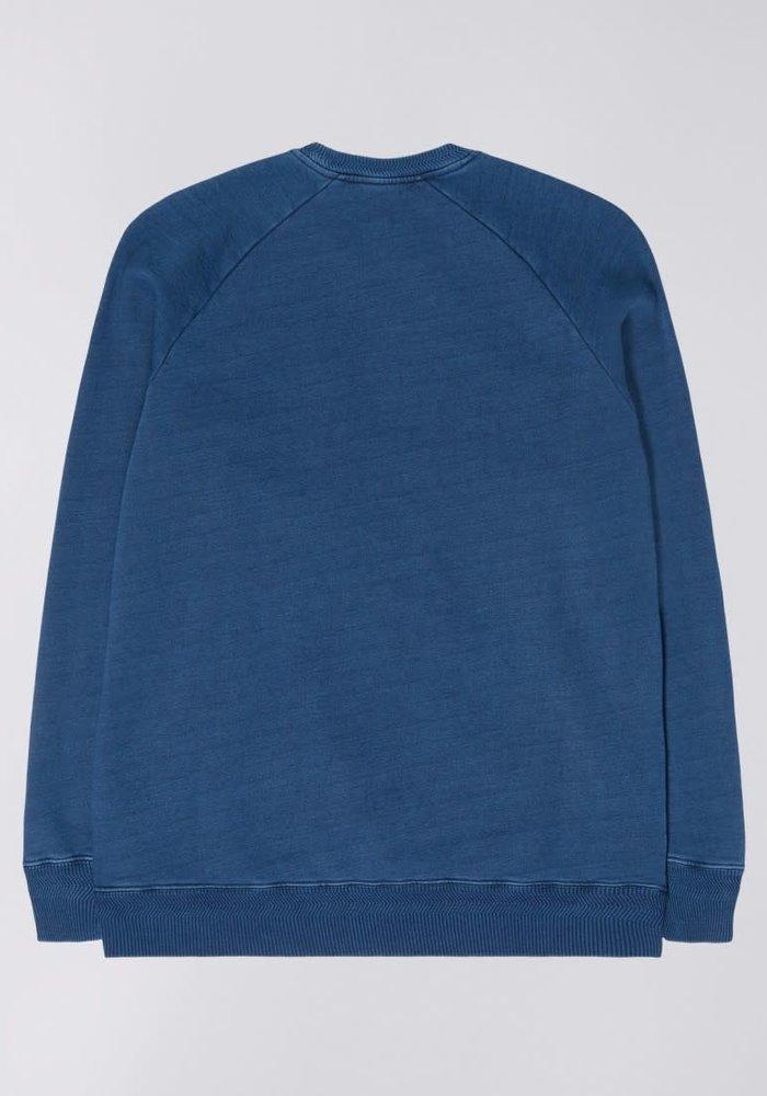 Kane sweater mid indigo stone washed