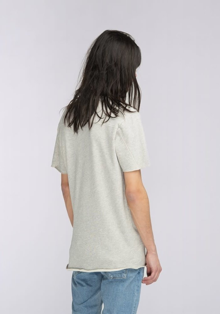 Terry short sleeved tee with brusched  inside