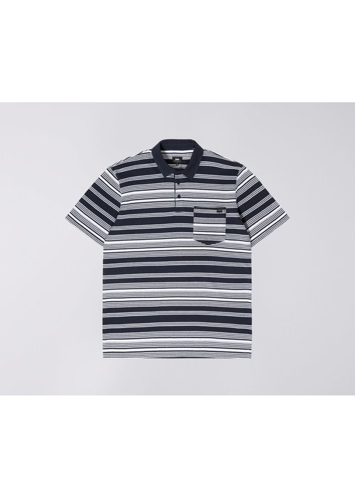 Edwin Jeans Royal Polo Navy White Stripes